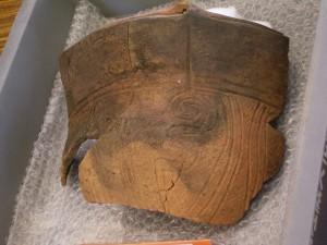 大きな縄文土器片
