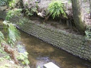 千川上水の石垣